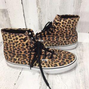 VANS Cheetah Animal Print High Top Sneakers